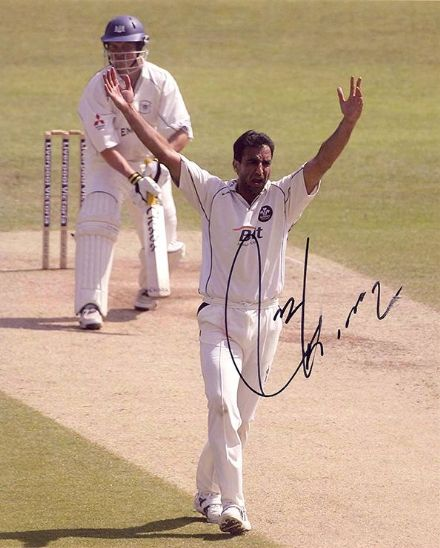 Mohammad Akram, Pakistan, signed 10x8 inch photo.